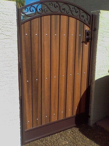 Side gate design (With images)   Wood gate, Wooden gates, Wooden .