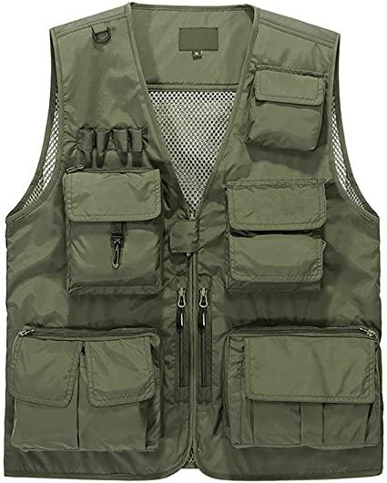 Amazon.com: Lamdgbway Outdoor Multi-Pocketed Fishing Vest .