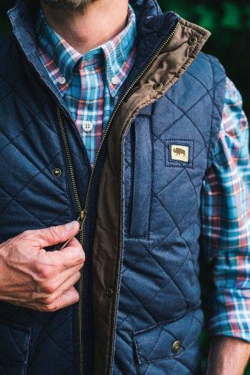 Highlands Quilted Vest - Navy   Men vest outfits, Mens outdoor .