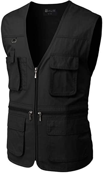 Amazon.com: H2H Men's Active Wear Outdoor Vests Work Safari .
