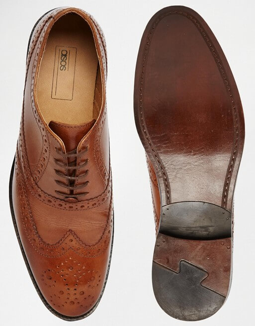 ASOS Oxford Brogue Shoes in Tan Leather – ShopKeep