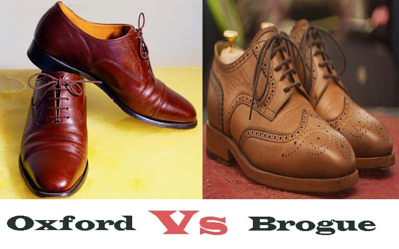 What is the Difference between Oxfords and Brogues? Oxford vs Brogu