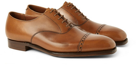 George Cleverley Charles Leather Oxford Brogues, $700 | MR PORTER .