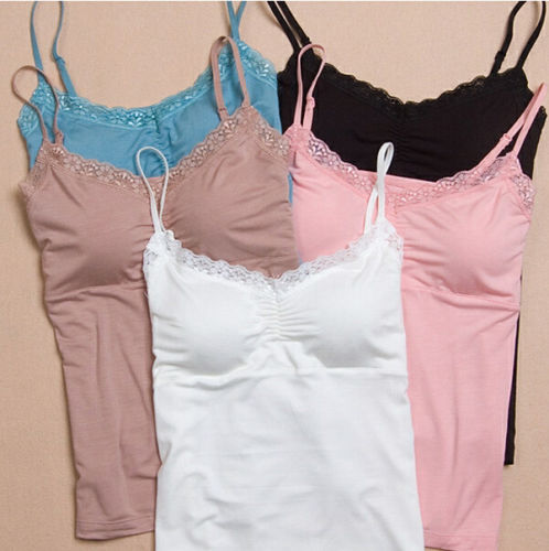 Women Soft Lace Padded Camisole Womens Bras Seamless Bra Padded .