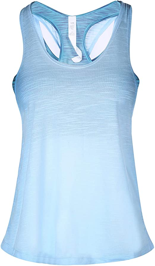 CamGo Womens Padded Camisole Built-in Bra Yoga Tanks Tops .