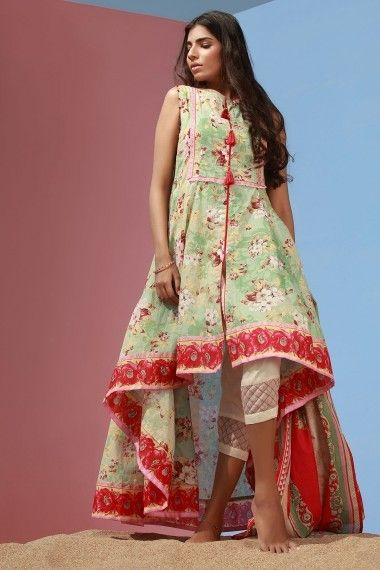 High and low (With images) | Pakistani dress design, Frock fashion .