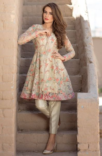 Loving this Bareezé dress (With images) | Pakistani outfits .