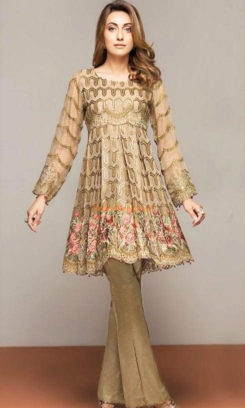 Stylish Short Frocks for Ladies in Pakistan 2019