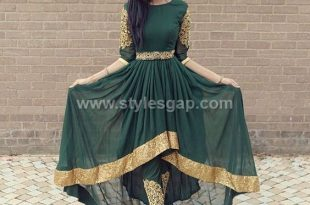 Frocks- Pakistani Waist Belt Dresses Designs (3) - StylesGap.c