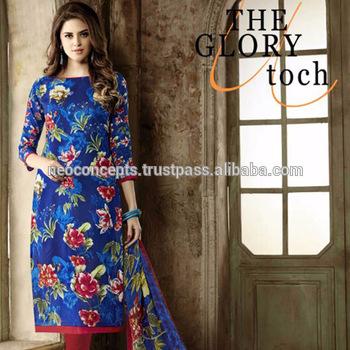 Salwar Kameez Designs / Women Casual Wear Semi Stitched Pakistani .
