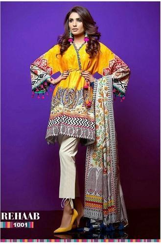 Semi-Stitched Pakistani Designer Party Wear Salwar Kameez Suit, Rs .