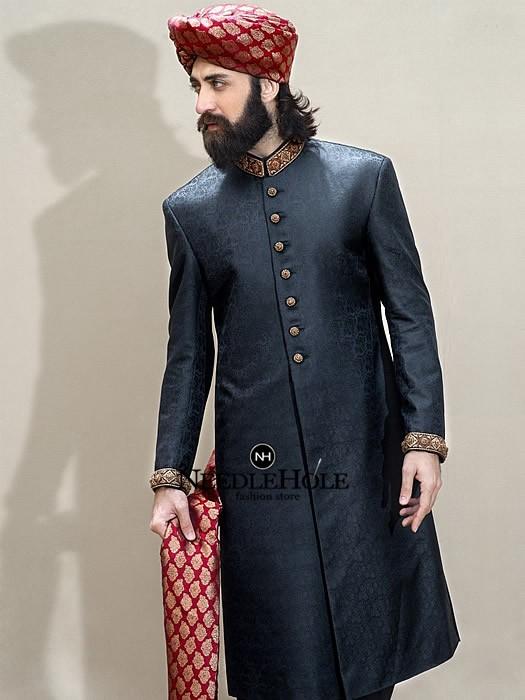 Latest Pakistani Sherwani Designs 2018 to Look Dapper 13 .