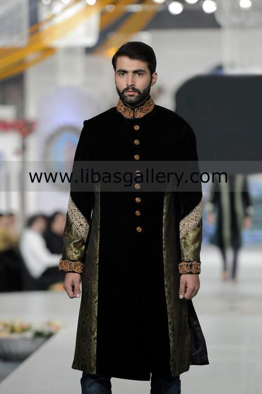 Pakistani Designer Sherwani for Men custom made for nikah barat .