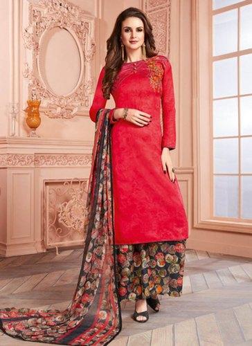 Red Kesari Exports Regular Wear Palazzo Salwar Suits, Rs 1390 .