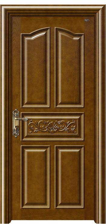 Asian style - Asian style - wooden door , wood panel door .