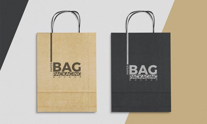 Paper Bag Mockup To Showcase Packaging Designs - Mockup Plan