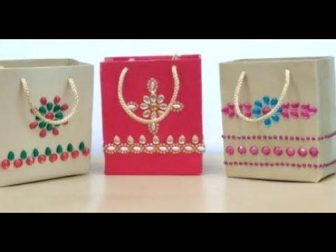 DIY Designer Paper Bag - YouTu