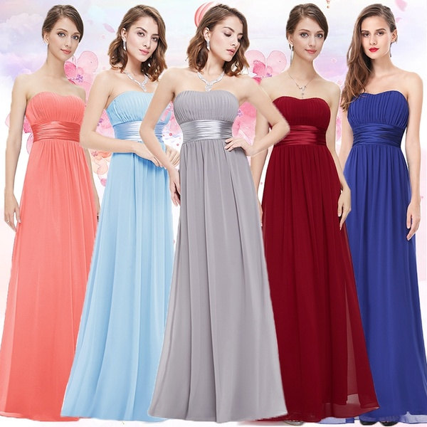 Ever Pretty Women Strapless Long Chiffon Evening Bridesmaid .