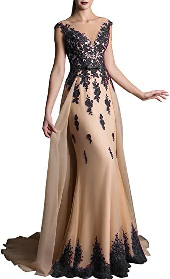 Amazon.com: YIRENWANSHA Lace Prom Dress For Girls Evening Party .