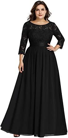 Amazon.com: Alisapan Womens Plus Size Long Bridesmaid Dress Lace .