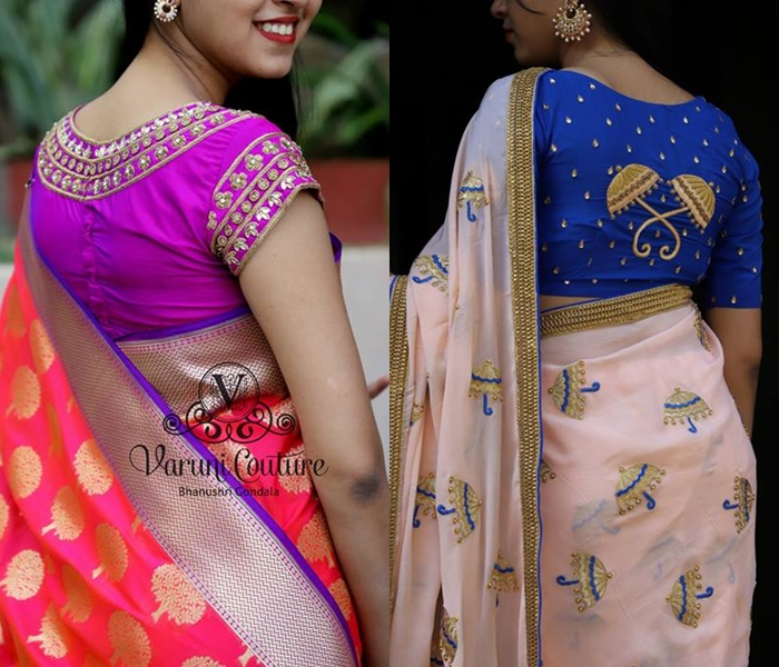 25+ Epic Party Wear Saree Blouse Designs • Keep Me Styli