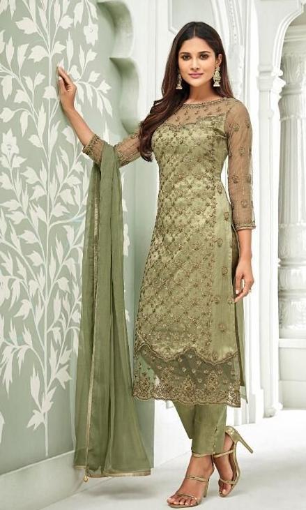 Shop Green Ladies Suits – Banglewale Internation