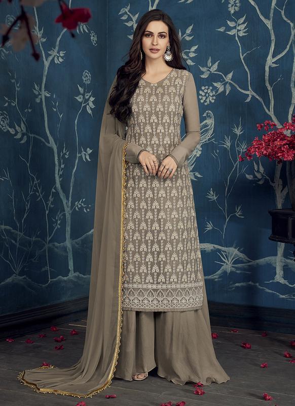 SareeBuzz Arihant NX Simona Grey Designer Party Wear Salwar Kameez .