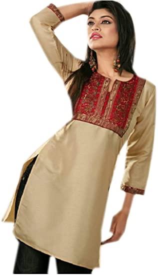 Jayayamala Party Wear Tunic Silk Cotton Embroidered Dress Tunic at .