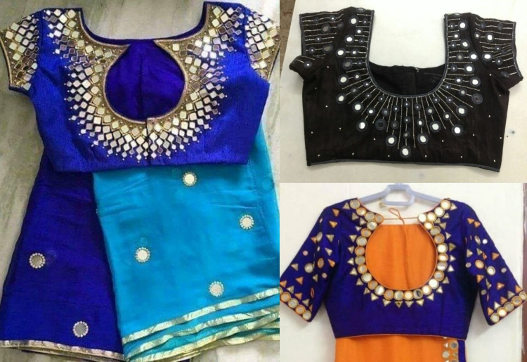 Top 100 Patch Work Blouse Designs with Front and Back Neck Patter