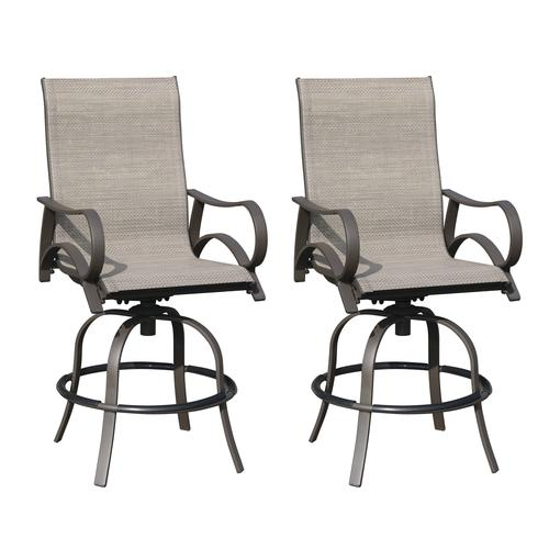 Backyard Creations® Camden Swivel High Dining Patio Chair - 2 Pack .