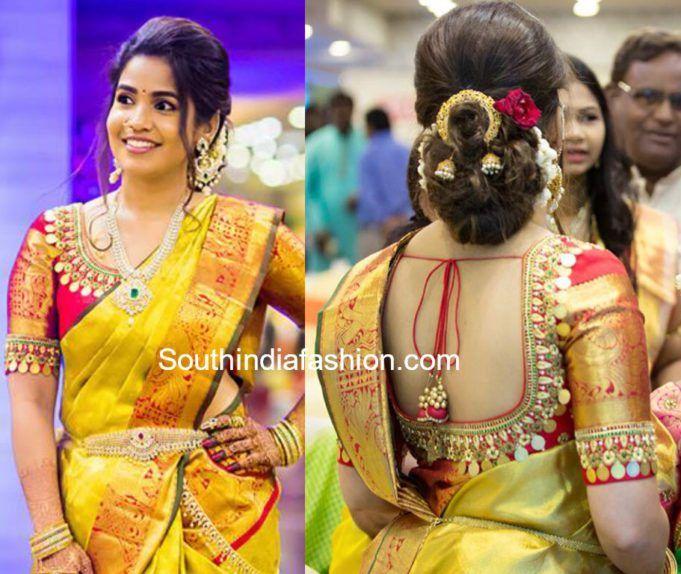 kasu work blouse for pattu sarees (With images) | Exclusive saree .