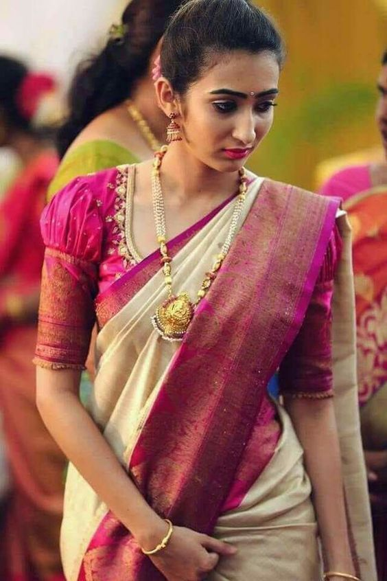 Find 21 Traditional Puff Sleeve Blouse Designs & Ideas Here (With .
