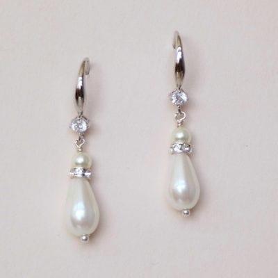 Hanging pearl earrings-Dianna pearl earring - Faye Daniel Desig