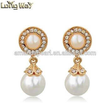 fashion earring designs new model earrings pearl earring designs .