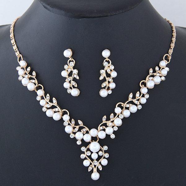 2020 2020 Wedding Jewelry Sets Imitation Pearl Jewelry Set Simple .