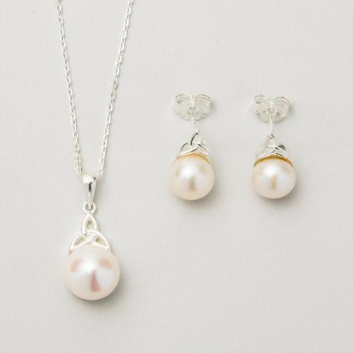 Buy The Trinity Pearl Jewelry Set from Ireland - The Irish Sto