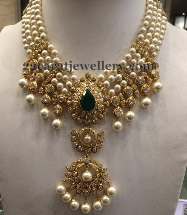 four-layers-heavy-pearl-necklace1.jpg (609×700) (With images .