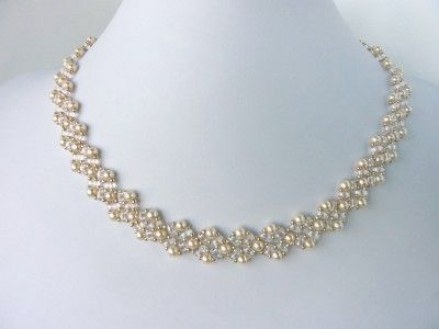 FREE beading pattern for Twin Diamonds necklace and earrings (With .