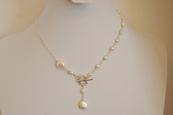 Cultured Freshwater Pearl Necklace Modern by Nature's Splendour .