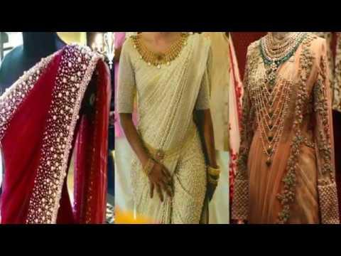Top Trending Heavy Pearl Saree Designs - simple designer saree for .