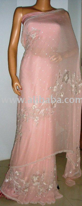 Pink Pearl Sarees - Buy Designer Hand Embroidered Saree Sari .