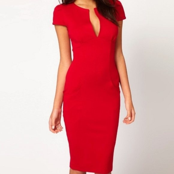 ASOS Dresses | Red Pencil Dress | Poshma