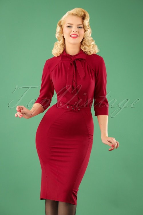 40s Gina Pencil Dress in R