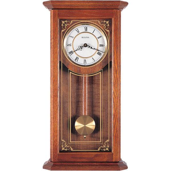 Bulova 26 in. x 12.25 in. Pendulum Wall Clock C3375 - The Home Dep