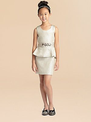 Zoe Girl's Reptile Peplum Dress - where was this fantastic party .
