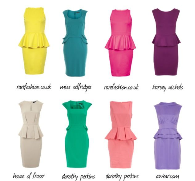 Types of Peplum Dresses (With images) | Fashion, Peplum dress .