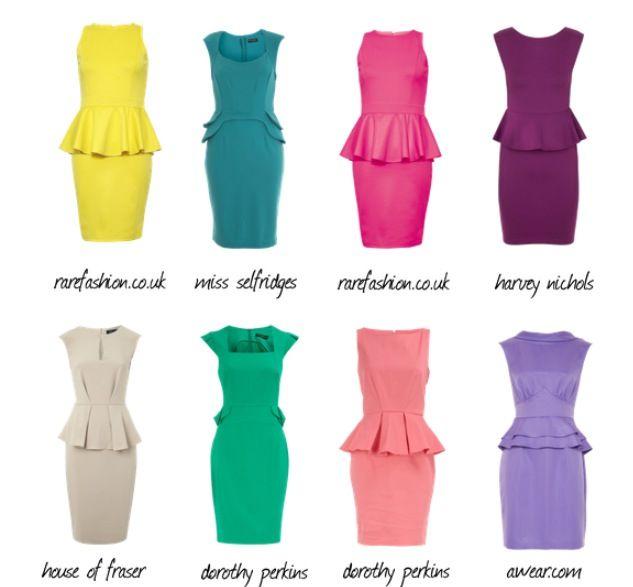 Types of Peplum Dresses (With images) | Fashion, Peplum dress .