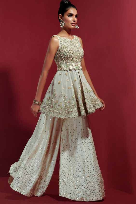 Pakistani Peplum Dresses For Wedding Brides In 2020 (With images .