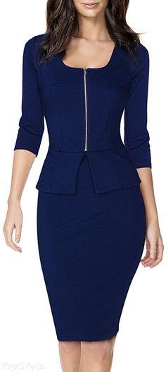 57 Best peplum dress images | Peplum dress, Dresses, Fashi