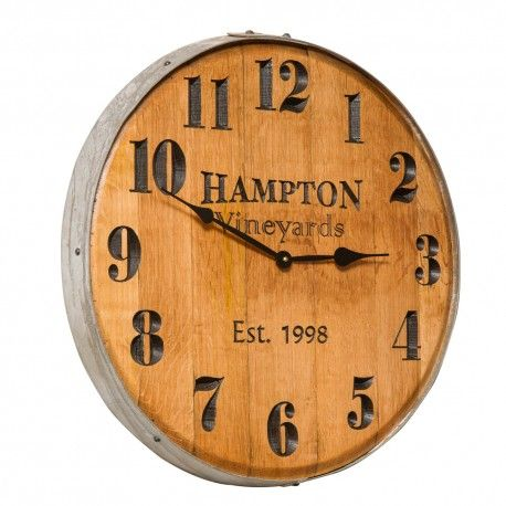 Wine Barrel Clock – Personalized Our Wine Barrel Clock is crafted .